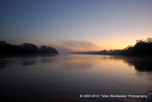 Sunrise over the Madre de Dios River