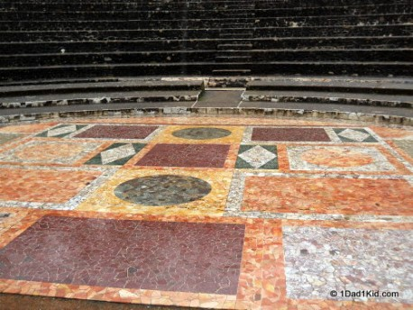 The floor of the Odeon