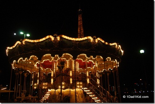 carousel, eiffel tower, paris