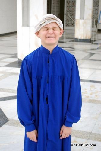 Blue Mosque, robed Tigger