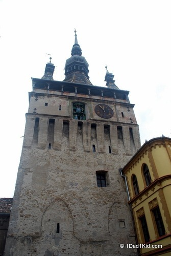 Tower visible from the home of Vlad Dracula