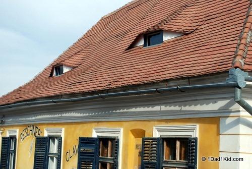 Sibiu house with eyes