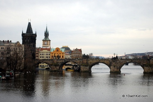 Prague's famous bridge