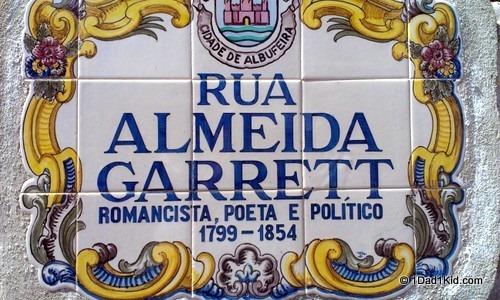 Albufeira street sign
