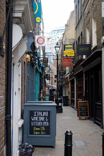 London sidewalk