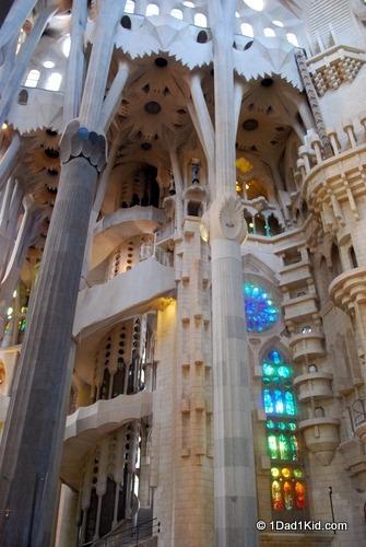 Gaudi cathedral, Sagrada Familia, Barcelona