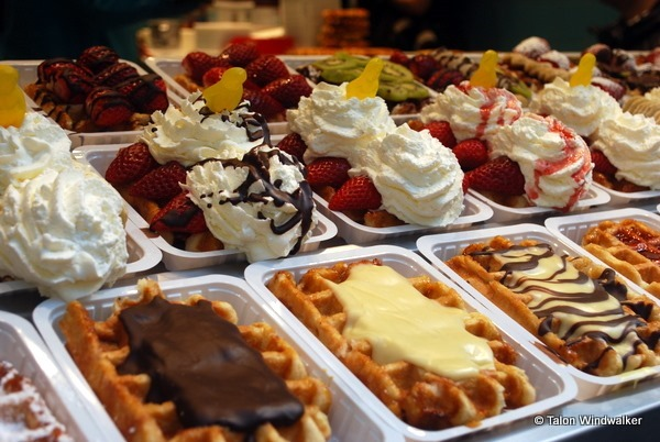 time in brussels, waffles