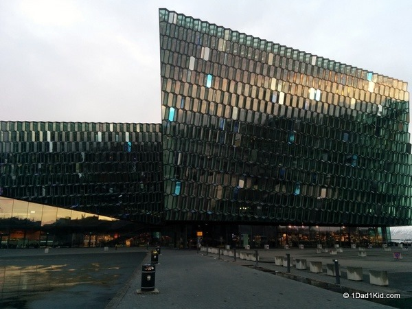 driving in iceland, harpa, conference center