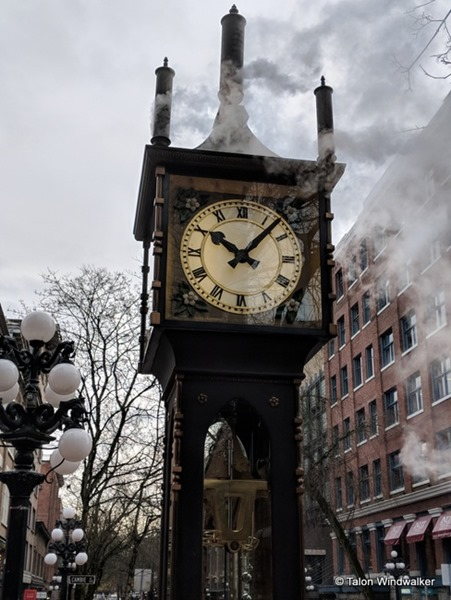 steam clock, vancouver trip, history